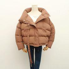 Роза дизайн водолазка короткая зима ватные куртки верхняя одежда женский утолщение тепловой хлопка-ватник хлеб w456