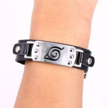 Konoha Symbol Leather Bracelet