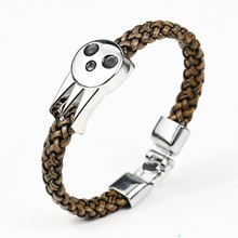 2016 HOT Anime Soul Eater SOUL EATER Bracelet & Bangles Soul Logo Leather Weave Jewelry Can drop shipping