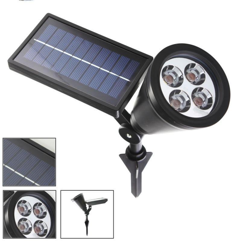 Nueva llegada Led luz solar al aire libre 4 LEDs Proyector de - Iluminación exterior - foto 4