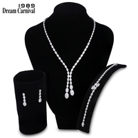 DreamCarnival1989 New Classic Luxury Design AAA Quality Zircon Stones Pave Setting Women Gift Bridal Wedding Jewelry set SN03829