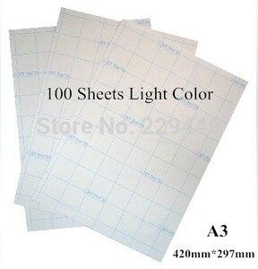 A3 * 100 шт, цветная лазерная термопереводная печатная бумага с тепловым прессом для одежды