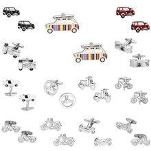 cc7bb58b9c94e Memolissa Trendy Ulaşım Kol Düğmeleri Araba/Otobüs/Motosiklet/Elektrikli  Otomobil Tasarım Gümüş Beyaz Kırmızı Renkli Kol Düğmele.