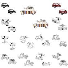 Transportation Cufflinks Motorcycle/electric Multicolor Memolissa Trendy Men for Car-Design