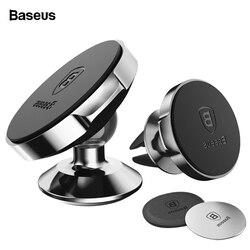Магнитный автомобильный держатель для телефона Baseus для iPhone 11 Pro Max samsung S10, держатель для телефона в автомобиле, магнитный держатель для мобил...