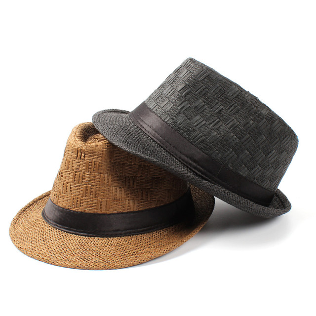 c666fb73 Women Men Summer Travel Straw Boater Beach Fedora hat For Gentleman Elegant  Lady Seaside Homburg Sun Panama Sun Hat