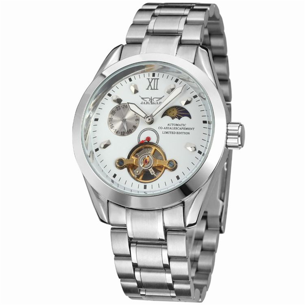 Mens Watches Top Brand Luxury JARGAR Japanese Automatic Mechanical Watch Date Week 24hours Dsiplay Dial Male