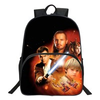 HENGFEI Brand Cool 16 Inch Printing Star Wars Black Teenage Book Bag High Quality Kids Baby