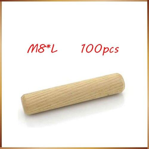 Wood Dowel Pin Cavilha 100pcs Per Lot Twill 8mm Diameter Hardwood Round Furniture Fitting Wood Dowel Pin