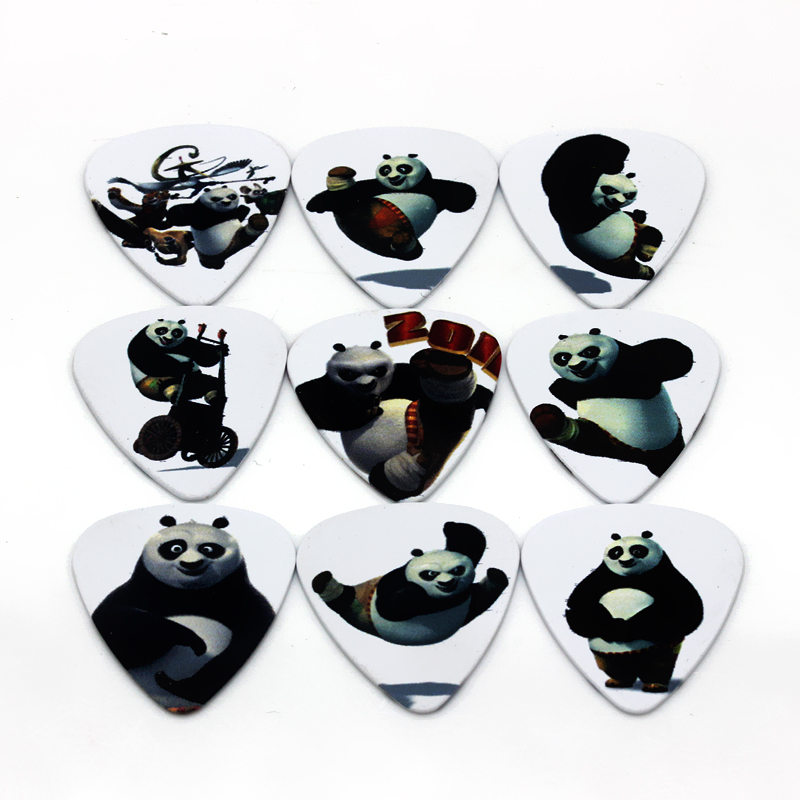10pcs Newest Music element Guitar Picks Thickness Kung Fu Panda cartoon 0.71mm