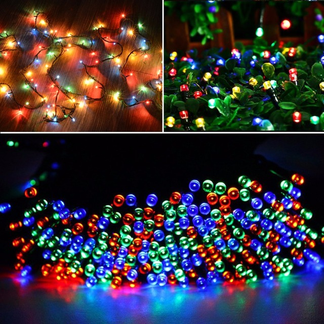 10m waterproof 100 led string decorative lights with end joint controller flashing fading