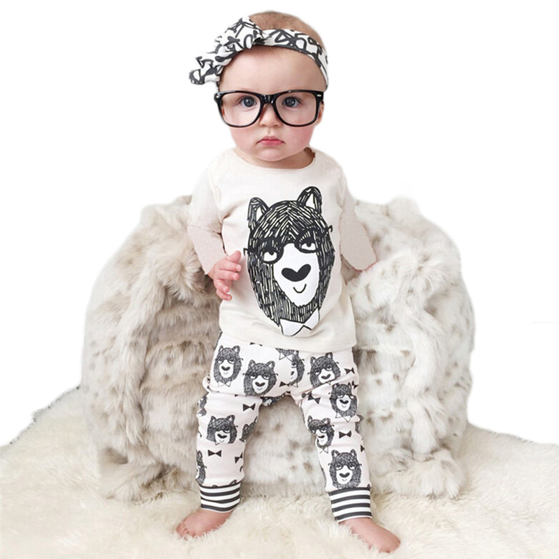0-2 Years Baby Clothing Set Newborn Baby boy Clothes Summer 2017 New Cartoon Monster Boys Outfit Short Sleeve t shirt+pants T01
