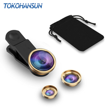 TOKOHANSUN 3-in-1 Wide Angle Macro Fisheye Lens Camera Kits