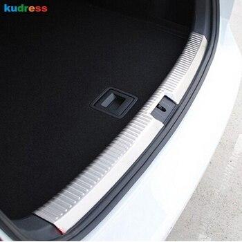 Для Volkswagen VW GOLF 7 2014 авто аксессуары из нержавеющей стали внутренний Задний бампер протектор литые накладки автомобильные наклейки 1 шт
