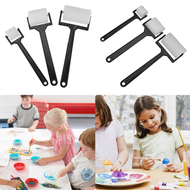 3pcs set Sponge Painting Roller Brushes Children Graffiti Watercolor Painting Pen Kids Learning Educational Painting Supplies