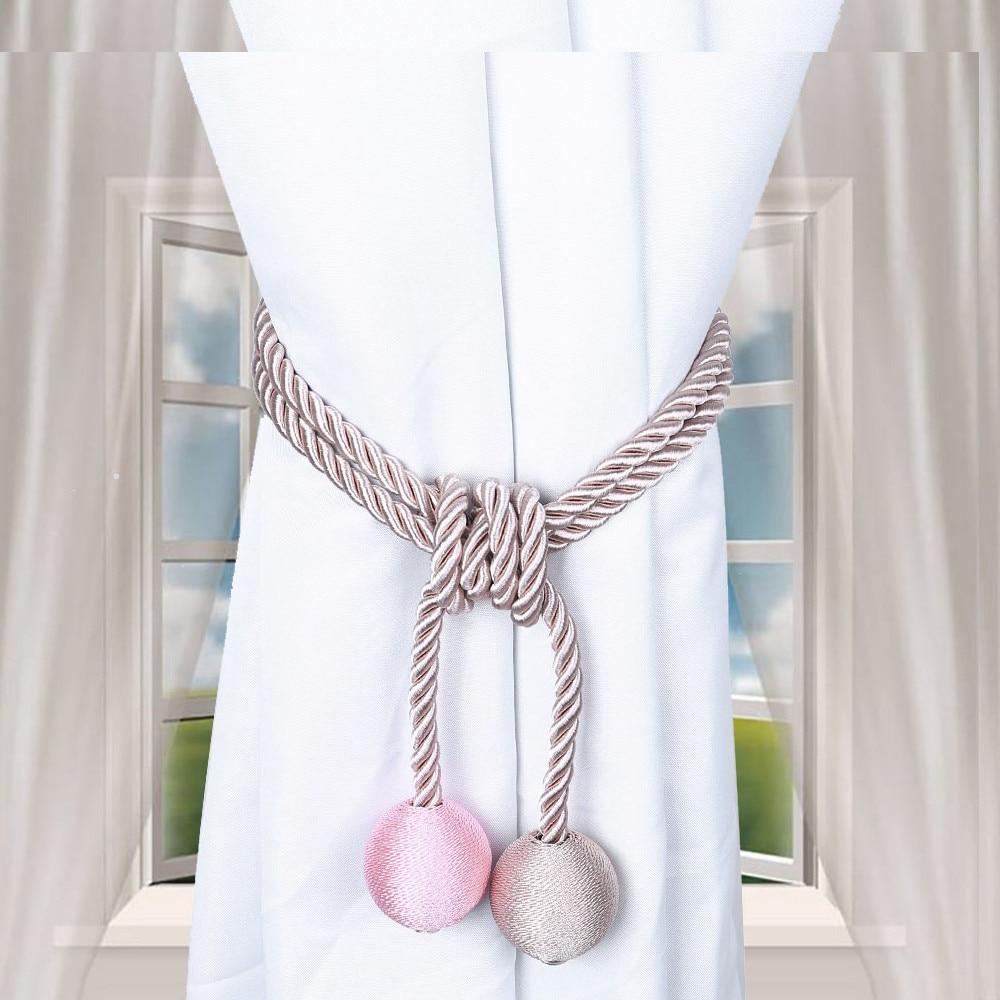 Permalink to Curtain Tiebacks Window Drapery Ropes Holdbacks Home Curtain Holder Curtain Decorative Accessories z0404#G20