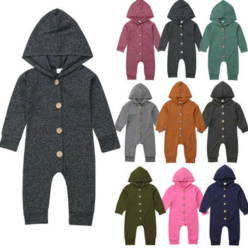 0-24M Toddler Baby Boy Girl Hooded Romper Autumn Winter Cotton Jumpsuit Clothes Outfits super warm baby romper for boy girl cosplay bear autumn winter romper hooded fleece baby clothes jumpsuit 2019 new arrival d30