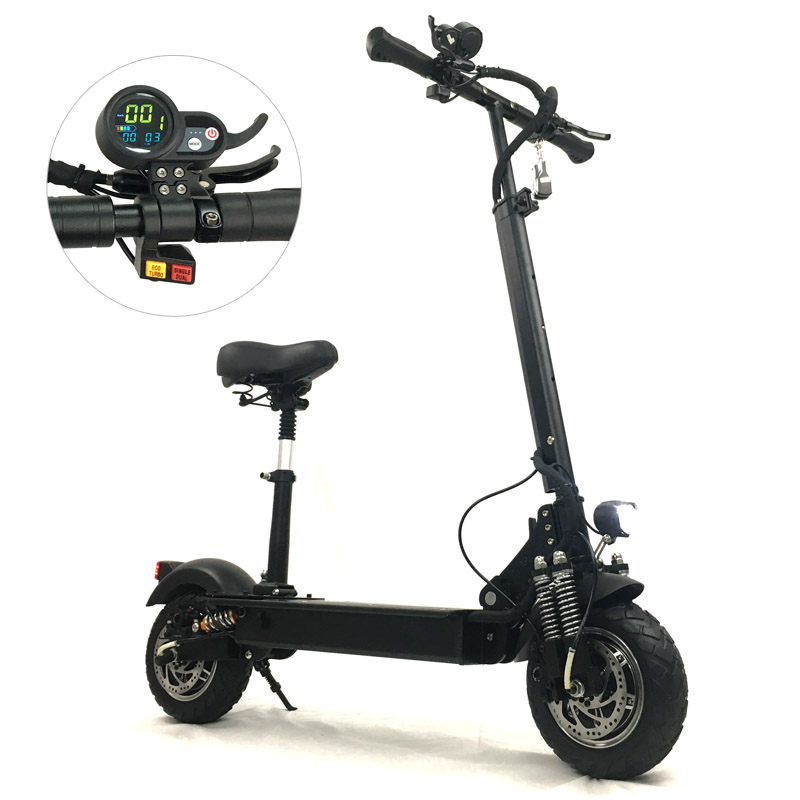 FLJ Scooter eléctrico con 52 V/2400 W motores potente Scooter Eléctrico plegable