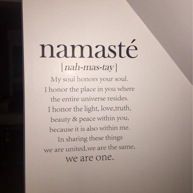 Free Shipping Namaste Definition Quote Vinyl Decal Wall Stickers Yoga  Studio Decor Stickers Home Decoration