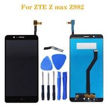 Para zte z max z982 display lcd tela de toque digitador assembléia kit reparo