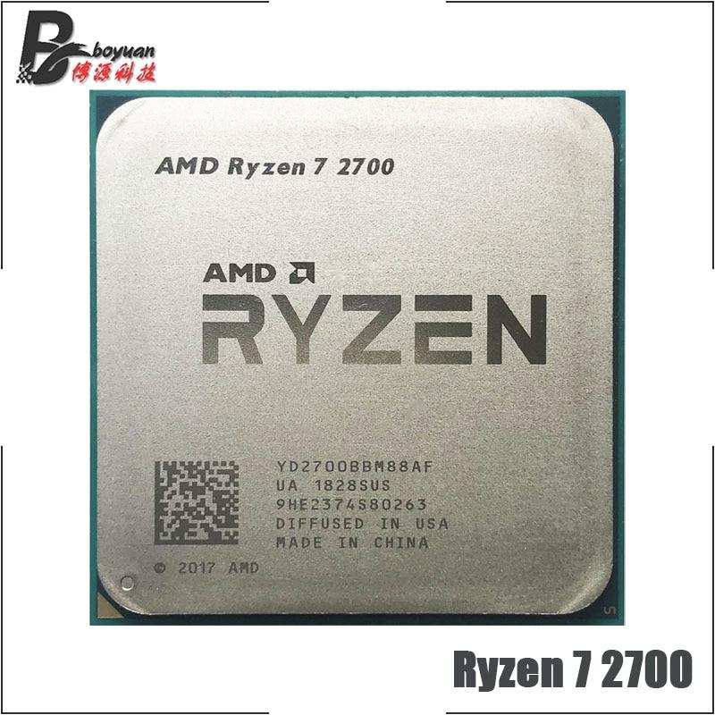 AMD Ryzen 7 2700 R7 2700 3 2 GHz Eight Core Sinteen Thread 16M 65W CPU