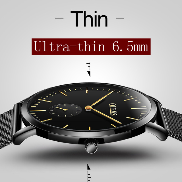 OLEVS Top Brand Quartz Watches Male Clock Mesh Steel Strap Men Wristwatches Ultra thin Dial Students Watch relogio masculino