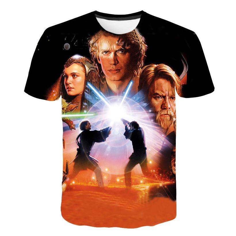 Star Wars 2018 Men 3D T-shirt Couple Style Funny Tshirt Summer Men Women Harajuku T shirt 3D Star Wars Printed Asian Size M-5XL