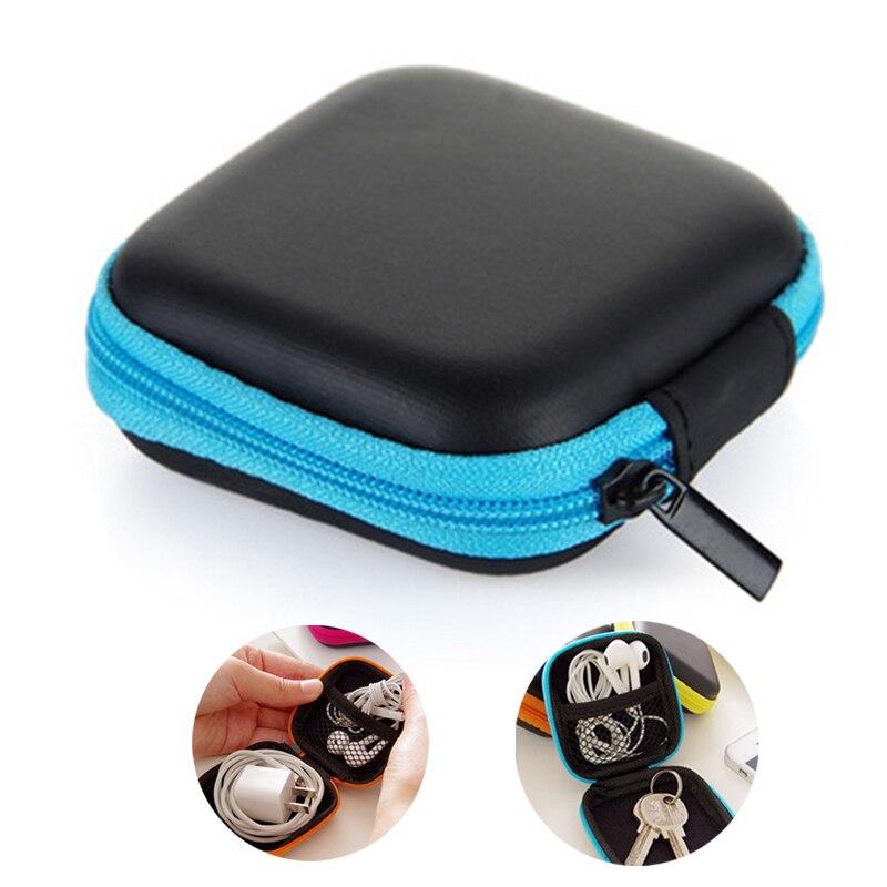 EVA data cable case earphone case storage box square zipper Protective Storage Container Case Earbuds SD Card Box multi Colors
