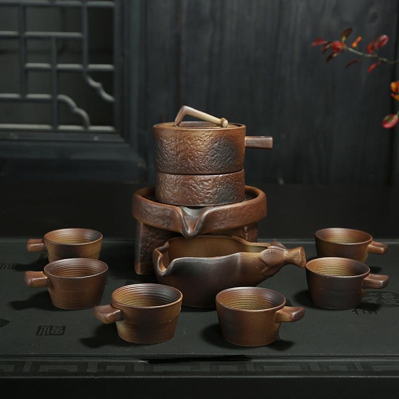 2018 new cool style Dehua Genuine kung fu tea set ceramic Semi automatic celadon teapot teaset