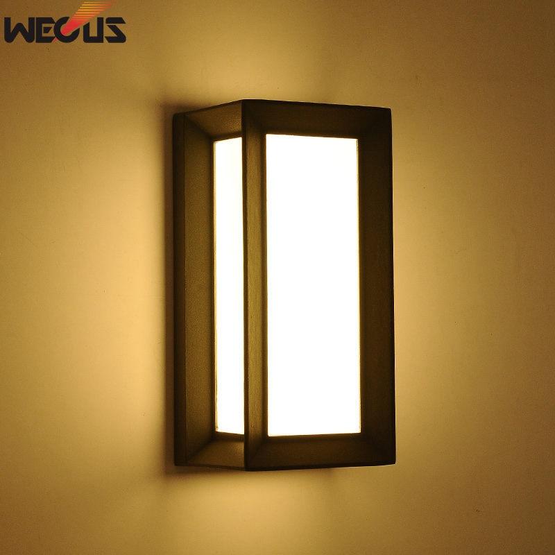(WECUS) Outdoor LED wandlamp, tuinverlichting waterdichte - Buitenverlichting