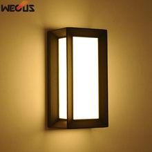(WECUS) Outdoor LED wall lamp, garden lights waterproof landscape lights, modern simple villa balcony lights
