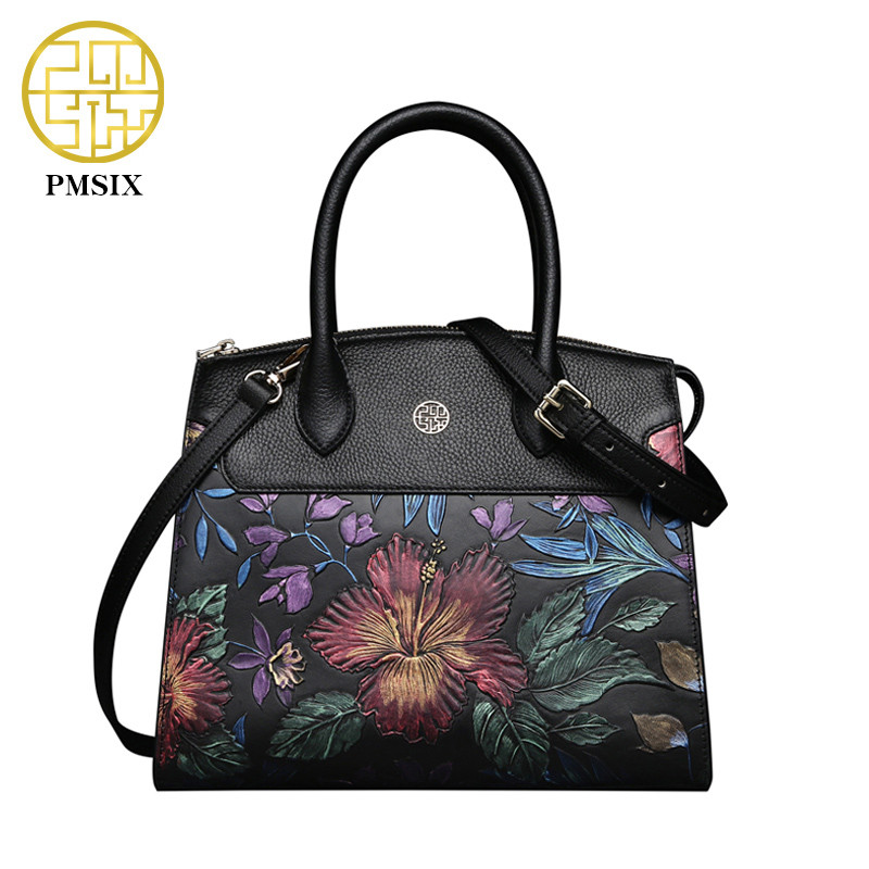 Pmsix Brand Luxury Handbags Women Bags Designer Genuine Leather Bag New Women Shoulder Bag Female crossbody messenger bag Lady laorentou luxury genuine leather women handbags crossbody bags for women brand designer tote bag new trend color lady bag n56