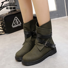 2016 Women Boots Shoes Women's Autumn Winter Boots ladies Military Shoes Women Martin Motorcycle Boots Female winter boot
