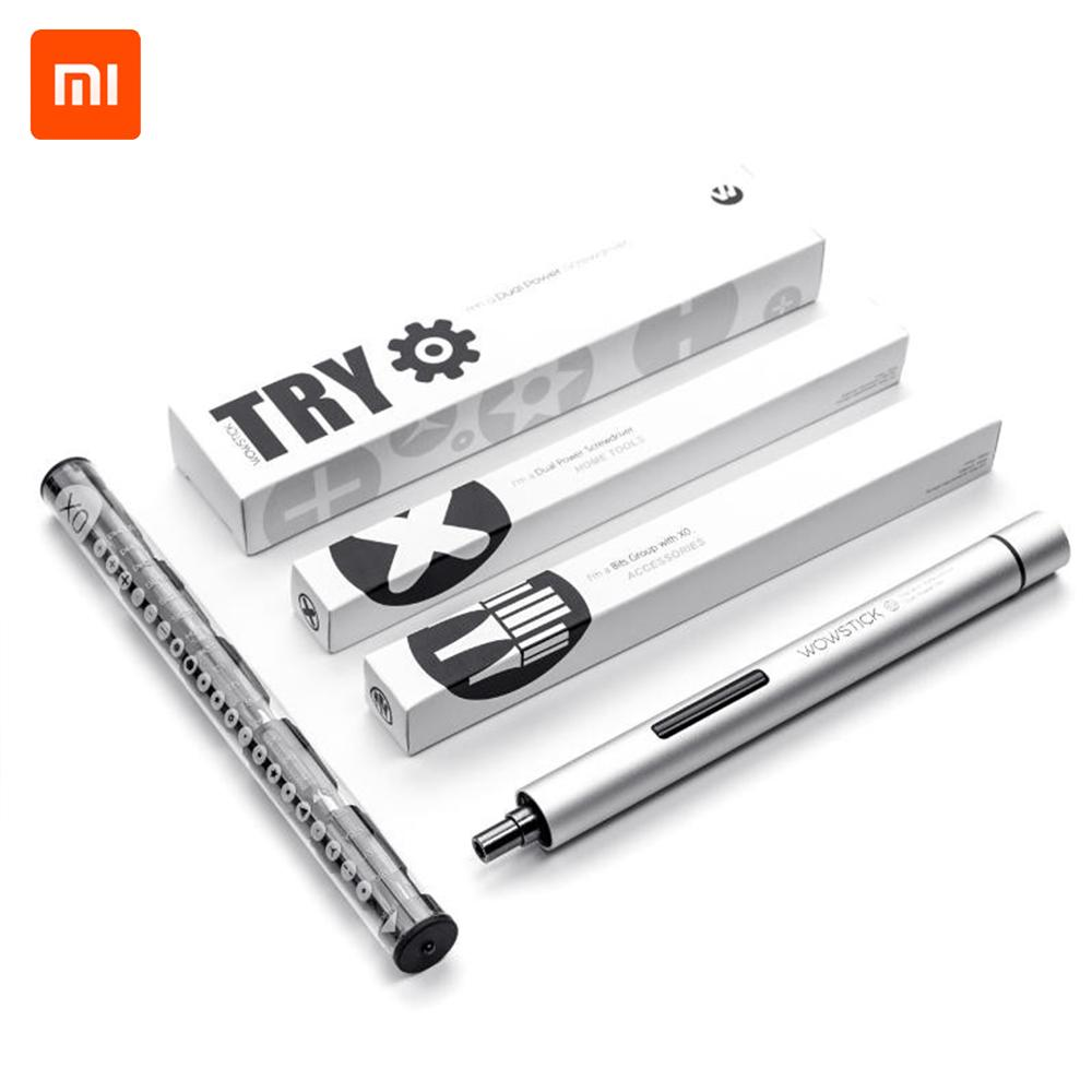 New 2019 XIAOMI WOWSTICK TRY 20 In 1 Dual Power Cordless Electric Screwdriver With X0 Screwdriver Bits Set DIY Tool For Repair