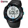 Hot Selling Brand OTS Cool Black Mens Fashion Large Face LED Digital Swimming Climbing Outdoor Man Sports Watches Boys Clock