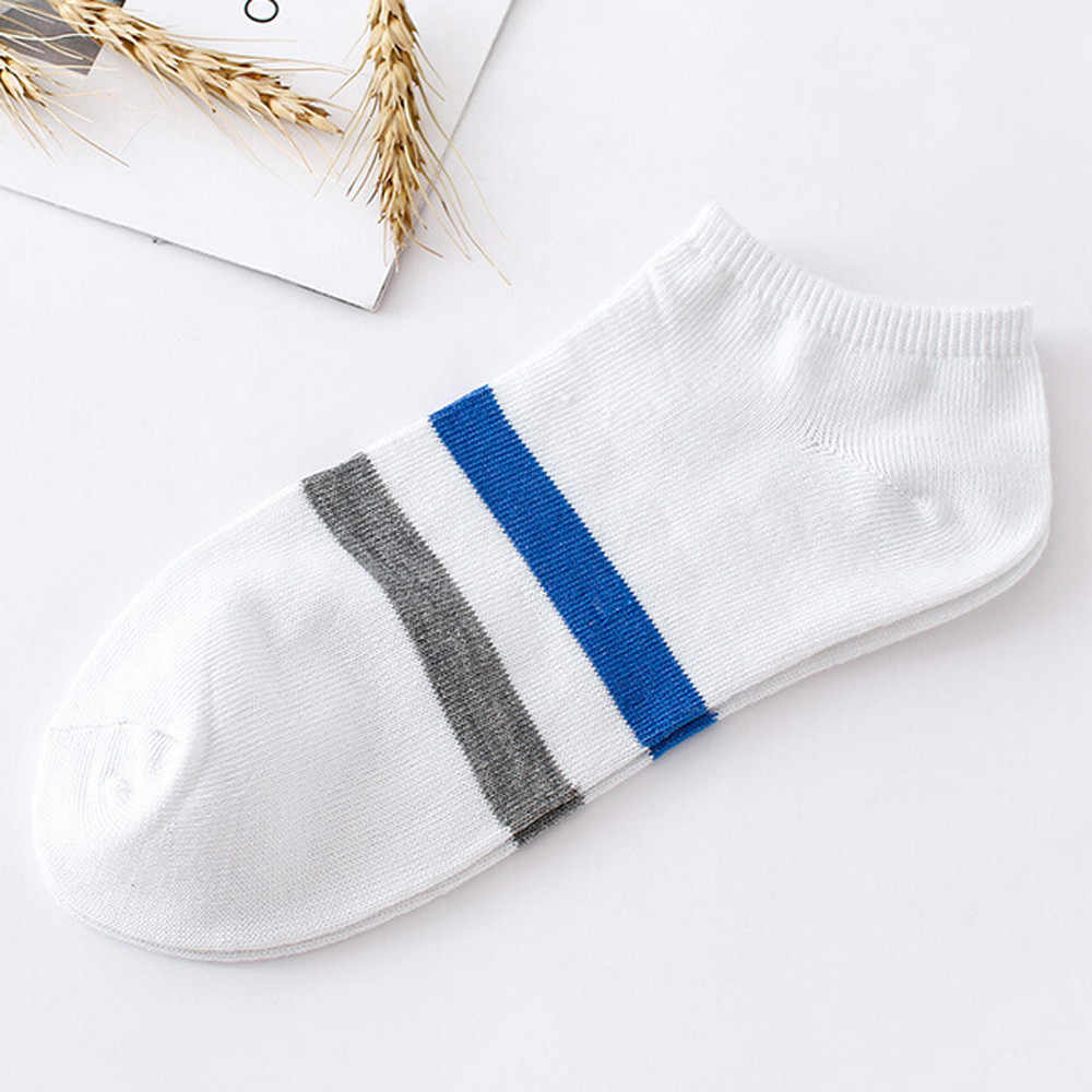 1Pairs Unisex Stripe Comfortable Cotton Sock Slippers Short Ankle Socks Breathable New Fashion