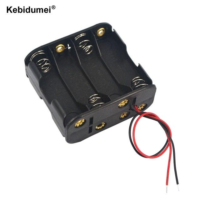 Kebidumei 5pcs Plastic 12V Battery Clip Slot Storage Case 8pcs AA Batteries  Storage Box Holder With