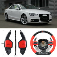 Carbon Fiber Gear DSG Steering Wheel Paddle Shifter Cover Fit For Audi A5 2012 2016