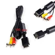 FZQWEG 100 Pcs Audio Video AV Cable Cord Wire Cable 3 RCA to for Sony Playstation PS PS2 PS3