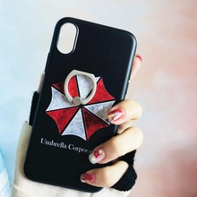 Soft Silicone 3D Case For iPhone 6 6splus Painted Cover Apple 7 8 plus X Protector Back Relief Cases Kickstand