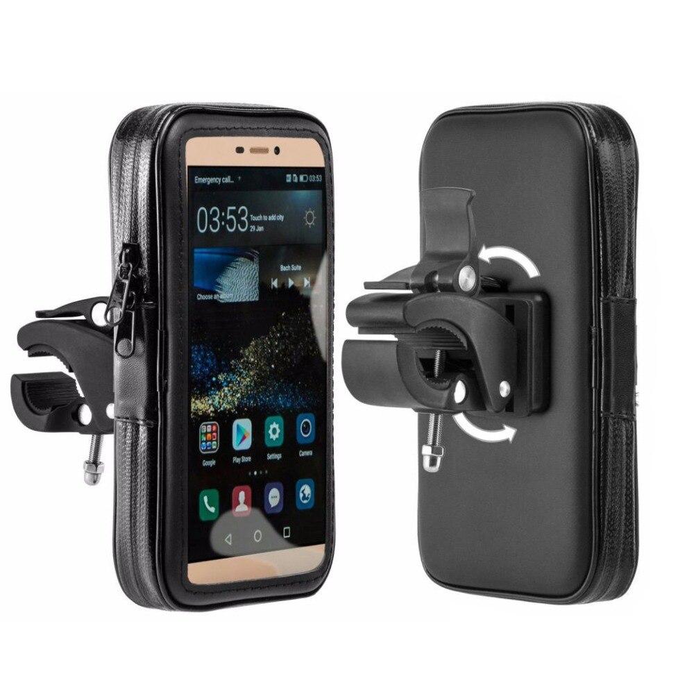Suporte do telefone da motocicleta à prova dwaterproof água suporte para iphonex xr xs 8 7 6s mais bicicleta gps titular moto suporte para celular