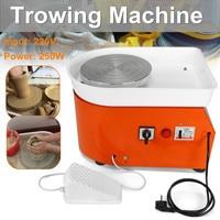 25cm Pottery Wheel Machine EU/AU AC220V 250 350W Ceramic Work Ceramics Clay Art With Mobile Flexible Foot Pedal Smooth Low Noise