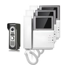 ENVÍO GRATIS Nueva Portátil de 4.3 pulgadas TFT a Color de Video teléfono de La Puerta Cámara de Visión Nocturna timbre de La Puerta del Intercomunicador del timbre 3 Pantalla En Stock