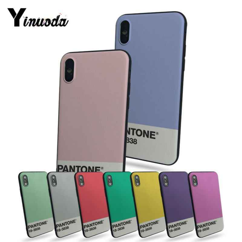 Yinuoda Pantone Diy Luxury High-end Protector phone Case For iphone 8 8plus 7 7plus 6 6plus 5 5s 5c SE Mobile cover