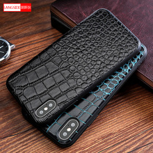 100% Genuine Leather Explosion-proof mobile phone case for iPhone 7 6 8 XS High end Business protective case for iPhone X case стоимость