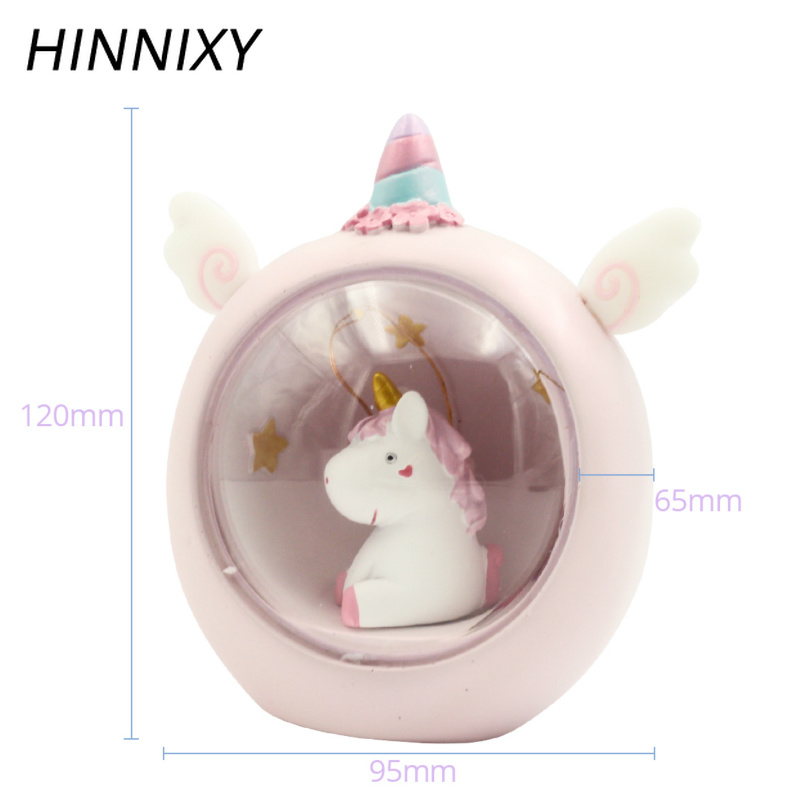 Hinnixy Unicorn LED Night Light Pink Blue Cute Lamp For Children Kids Girls Toy Animal Bedroom Decor Lighting Birthday Gifts in LED Night Lights from Lights Lighting