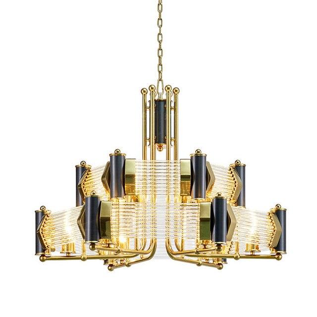 Modern luxurious metal K9 crystal designer pendant lamp for restaurant bedroom living room with E27 bulbs