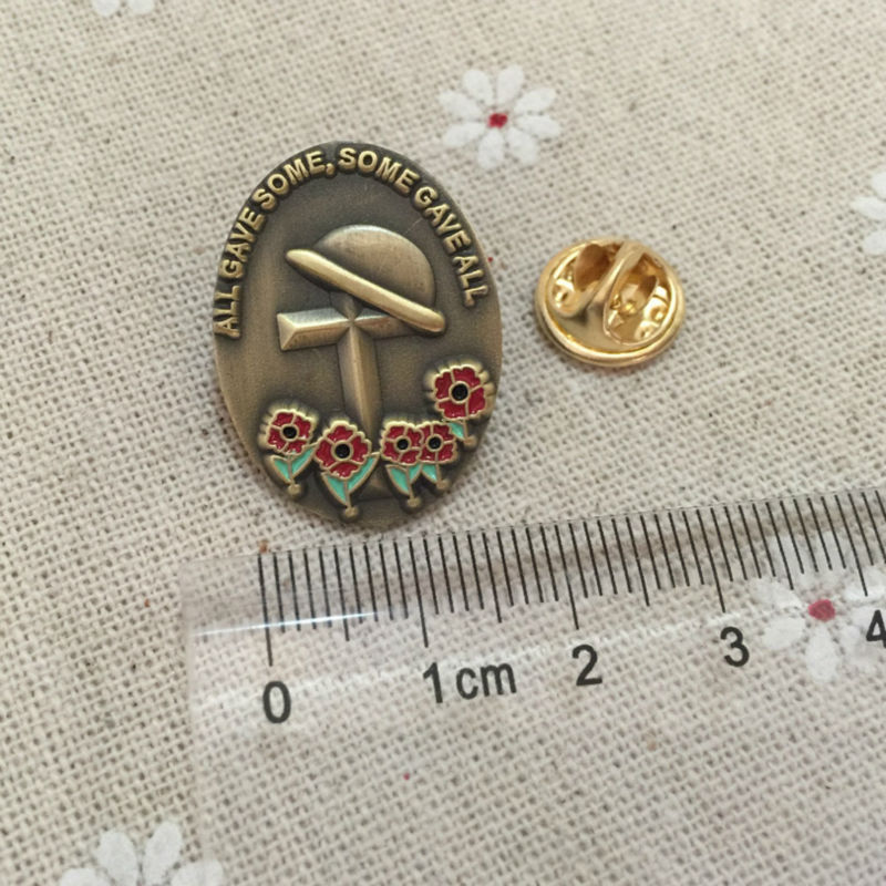 ALL GAVE SOME SOME GAVE ALL World War II Soviet Badge Cross with Hat Lapel Pin