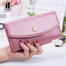 women wallet Lady holding long wallet female purse portable wallet apric clutch mini Handbag ladies purse PU for women 2019 new