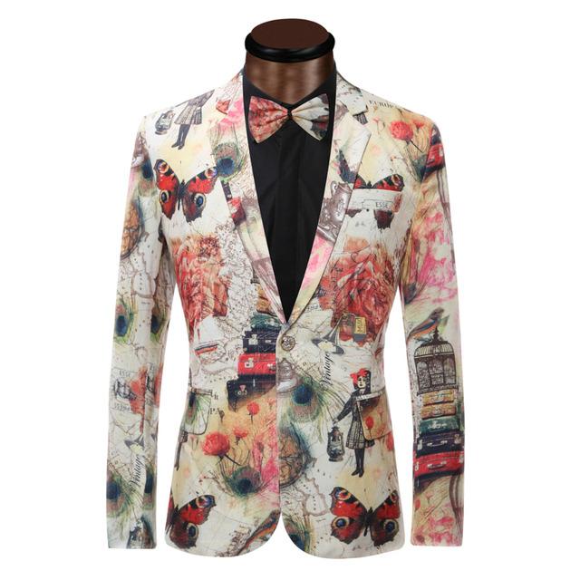 2017 Nueva Chaqueta Para Hombre Trajes de Diseño Únicos Para Los Hombres de Calidad Superior más Tamaño 6XL Chaqueta Slim Fit Blazer Outwear Traje Homme hombres